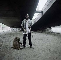 Krotitel zvířat a Ajasco, Lagos, Nigérie 2007.