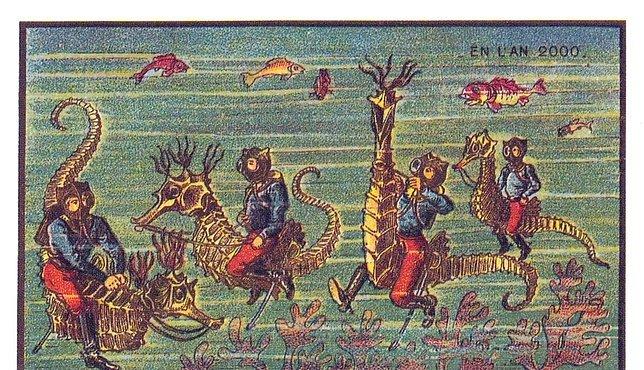 OBRAZEM: V roce 2000 jsme měli plout na mořských konících. Představy z roku 1900