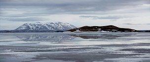 Jezero Myvatn, severní Island