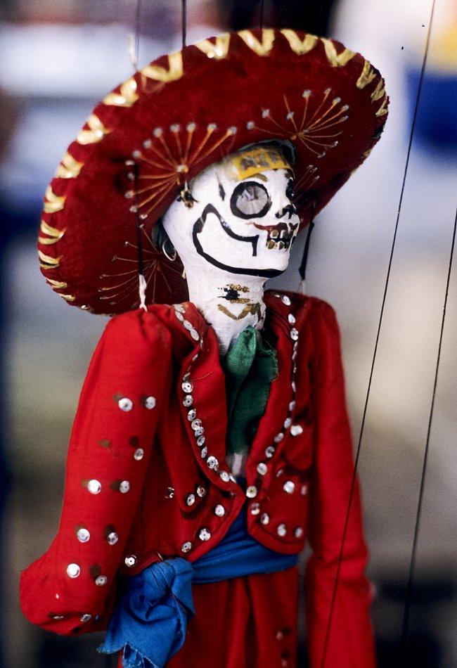 Masky jsou jedním z tradičních artiklů bohaté mexické lidové tvořivosti