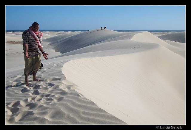 Duny na jižním pobřeží v oblasti Noget.