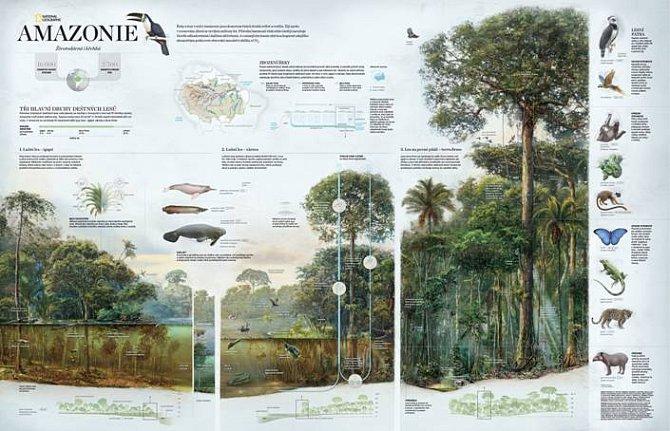 Získejte mapu Amazonie s listopadovým číslem National Geographic!