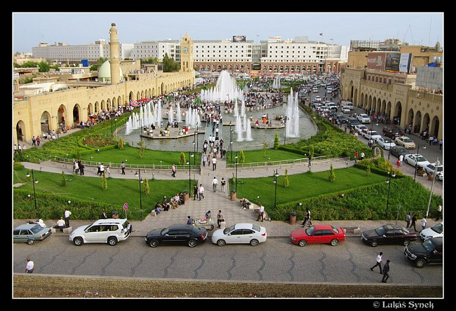 Centrum kurdského Erbílu z citadely