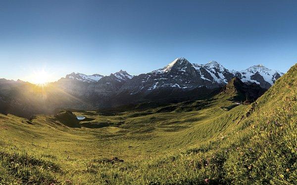 Pohled na krajinu vokolí Grindelwaldu