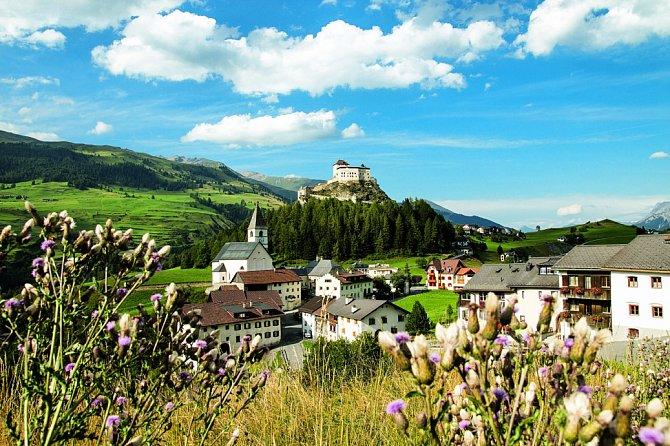 Malebná panoramata švýcarského Engadinu