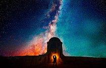 Pár z Kolumbie neodolal kráse Mléčné dráhy.