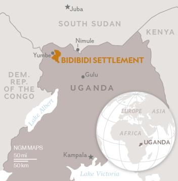 Uprchlický tábor Bidi Bidi byl otevřen vroce 2016, kdy tisíce obyvatel Jižního Súdánu prchaly zobčanské války.