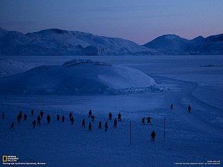 Fotbal za soumraku. Grónsko