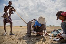 Jen pár centimetrů pod povrchem pustiny v Afarské sníženině v Etiopii  nacházejí paleontologové z projektu Středního Awashe nástroje a jiné doklady o lidech z období před 60.000 lety a dříve. Afarský