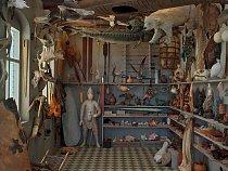 Fotografka Rosamond Purcellová využila rytinu k vytvoření rekonstrukce kabinetu v životní velikosti.  SANTA MONICA MUSEUM OF ART