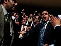 Protest právníků v Káhiře.