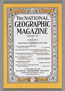 Obálka National Geographic z ledna roku 1933.