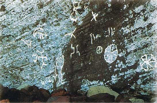 Obrazy ve skalách jsou svědky minulého osídlení