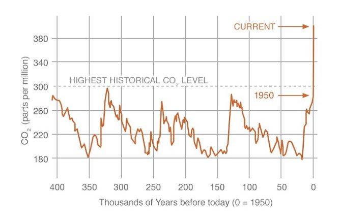 Výsledky přímého měsíčního měření hladiny oxidu uhličitého