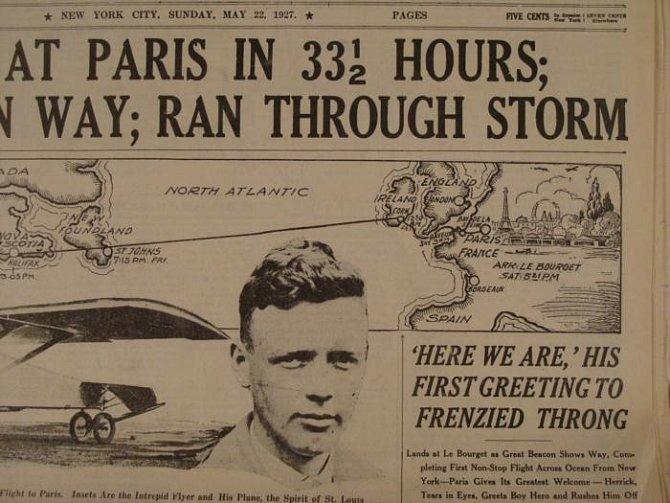 Noviny oznamují historický přelet