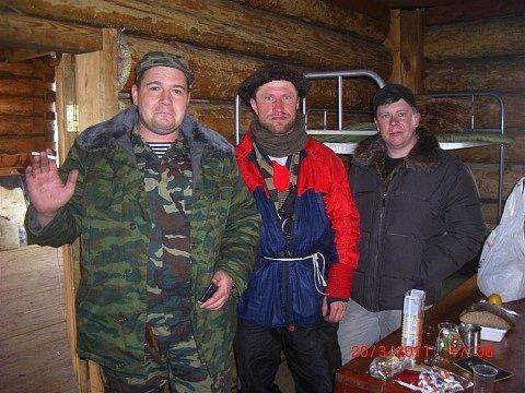 Marek Šimíček s kamarády z Bajkalu