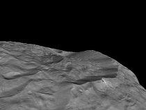 Na jižním pólu planetky je spousta vysokých hor. Vědci zatím přesně neví, jak vznikly.