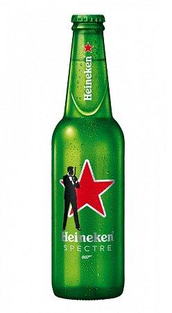 speciální limitovaná edice pivních lahví ve stylu Jamese Bonda