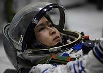 První tchajkonautka Liu Yang (34) při tréninku.