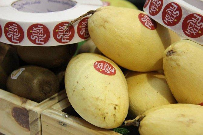 Co se bude dít s ovocem, které bude mít nálepku zabraňující šíření bakterií?