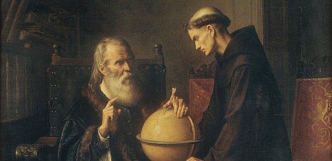 Disputace o astronomii v Padově. Galileo byl nakonec donucen odvolat.