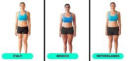 Ideální postava: Itálie, Mexiko, Nizozemí