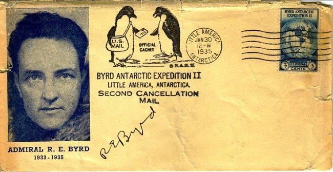 Obálka s R. E. Byrdem z roku 1935.