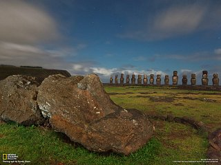 Sochy maoi na Velikonočním ostrově