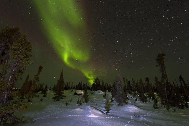 Polární záře nad Kanadou