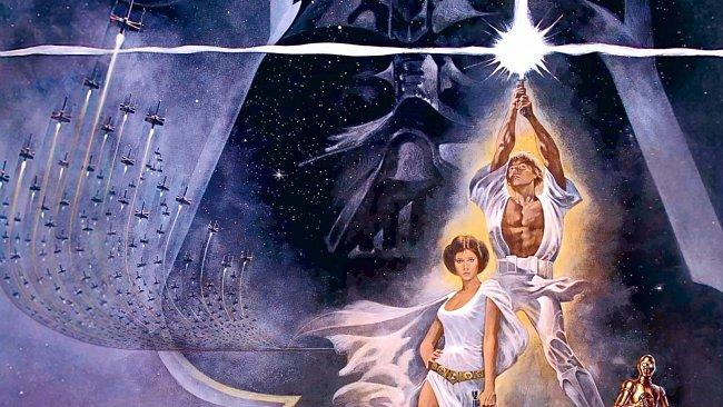 Plakát k premiéře Hvězdných válek.
