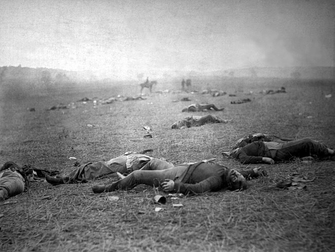 Padlí po bitvě uGettysburgu