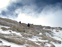 Zatímco na Dhaulagiri se většina lezení odehrávala na ledu a sněhu, Makalu nás překvapila množstvím lezení ve skále.