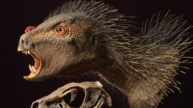 Bizarní trpasličí dinosaurus měl upíří zuby, zobák a ostny jako dikobraz