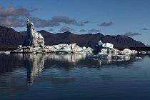 Ledovcová laguna Jokullsarlon, jihovýchodní Island