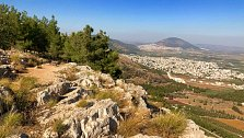 Výhled z hory nad Nazaretem