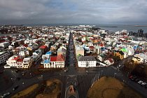 Reykjavik, pohled z Halgrimssonkirkja