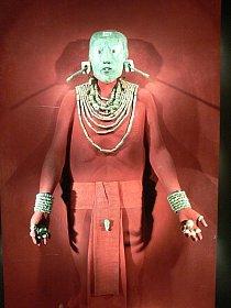 Nefritová maska Pakala (Národní antropologické a historické muzeum v hlavním městě Mexika).