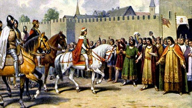 Korunovace Václava II. – sláva, z níž oči přecházely