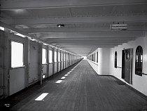 Promenáda na lodi Olympic byla podobná té z Titaniku.