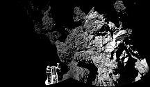 Modul Rosetta přistál poprvé v historii lidstva na povrchu letící komety