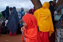 Vysídlené matky a děti čekají pod stromem na mobilní kliniku Lékařů bez hranic. Guri El, Somálsko, říjen 2011.