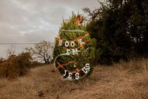 """Každý rok o Vánocích zdobí obyvatelé Austinu stromy podél dálnice Loop 360. V roce 2016 vzdával nápis """"Hook' Em Jesus"""" (Naberte je na Ježíše) na jednom stromě poctu sloganu a ručnímu gestu University of Texas """"Hook' Em Horns"""" (Naberte je na rohy)."""