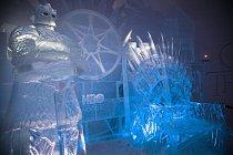 Restauraci vévodí obrovský ledový trůn.