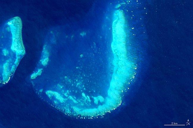 Písmeno J – Trunk Reef v Austrálii