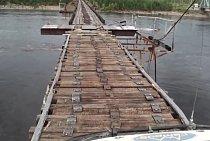 Most přes řeku Vitim na Sibiři