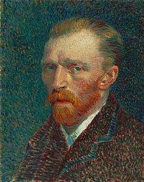 Autoportrét nizozemského malíře Vincenta van Gogha, největší osobnosti světového výtvarného umění.