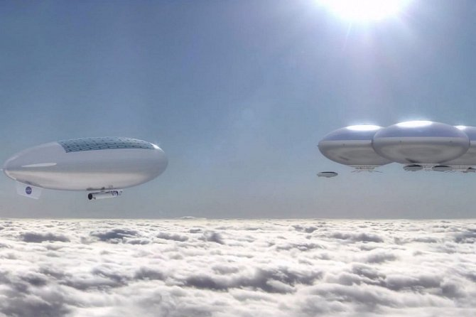 Vzducholoď se blíží k první stálé kolonii