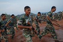 Cvičení komanda indické policie