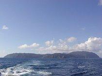 Ostrov z lodi.