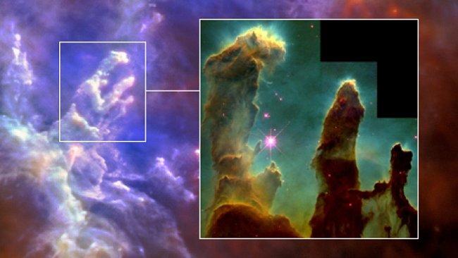FOTO: Nové záběry Pilířů stvoření. Fascinující Orlí mlhovina z jiného úhlu